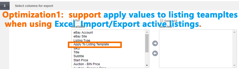 Template ebay download csv