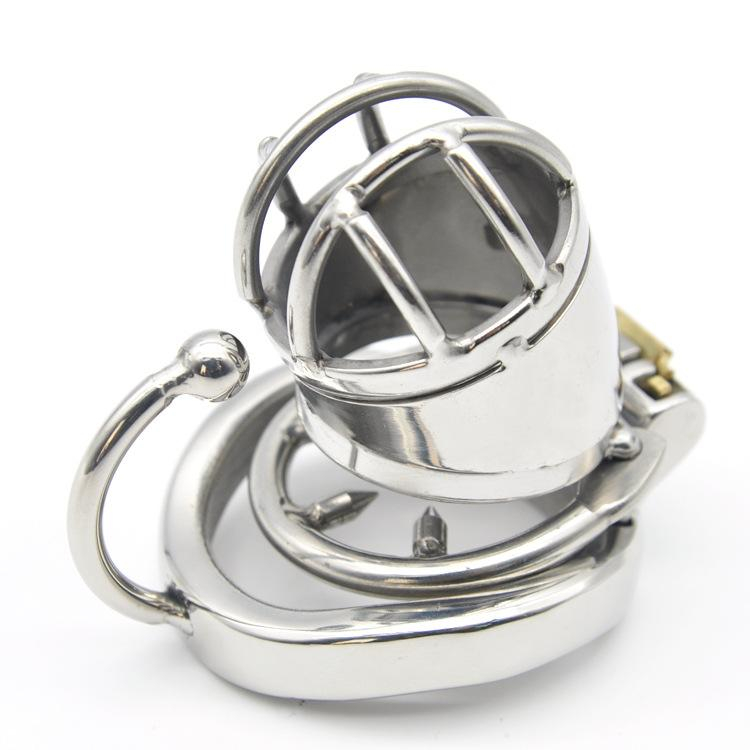 The Cheapest Price 304 Medical Grade Stainless Chastity Device Cage Arc Spike Ring Plug Ua1064 Body Enhancing Devices