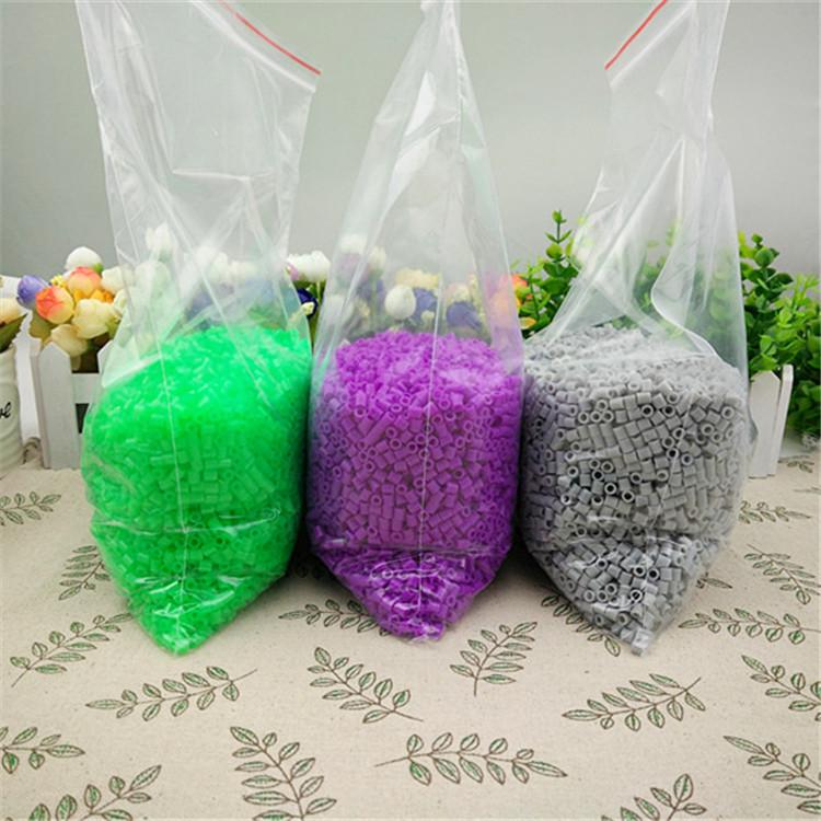 250PCS Perler Hama 5mm Beads Refill Pack Crafts DIY Toy For Kids 50 Colors