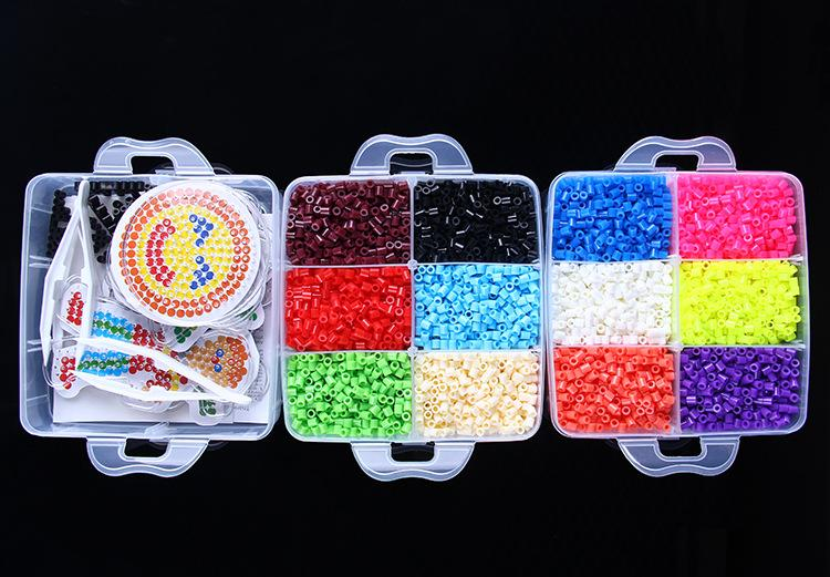 5mm Perler Beads Kit 20 Colors 2000 Beads 1 Ironing Paper 2 Template 1 Clip