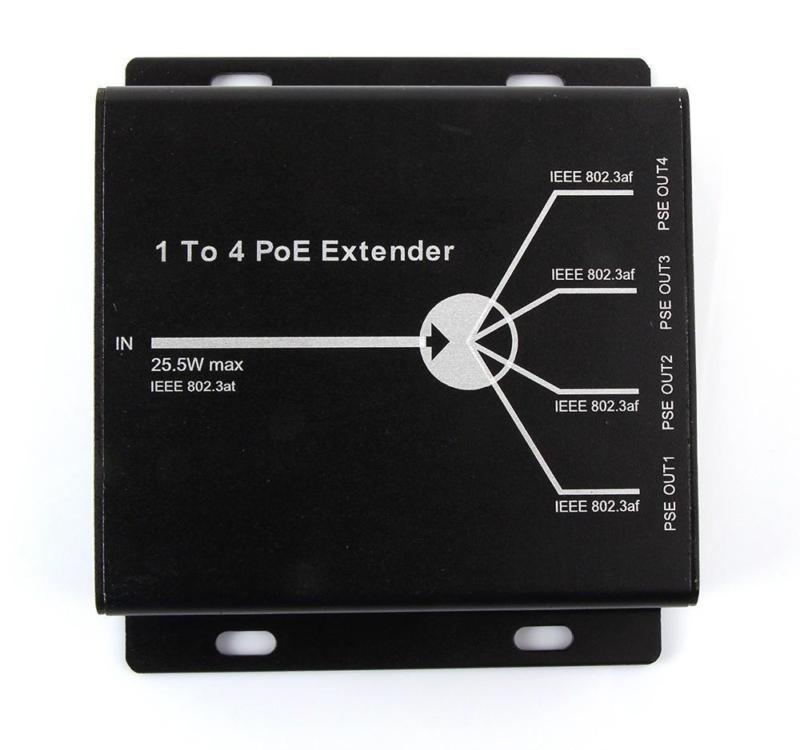 1 TO 4 Port POE Extender POE Repeater IEEE802.3af 25.5W For IP Camera POE Switch