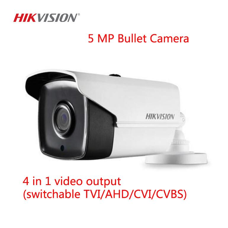 Hikvision 5MP DS-2CE16H0T-IT3F IR 2D DNR DWDR Bullet Camera 2.8 MM Camera 4-PacK