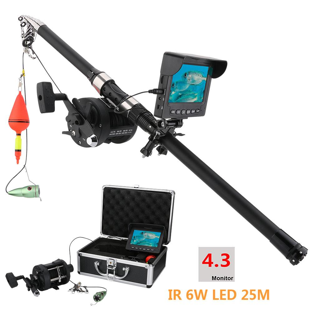 Surveillance Cameras 15m 25m Aluminum Alloy Underwater Fishing Video Camera Kit 6w White Led Lights With 4.3 Inch Hd Color Monitor Security & Protection