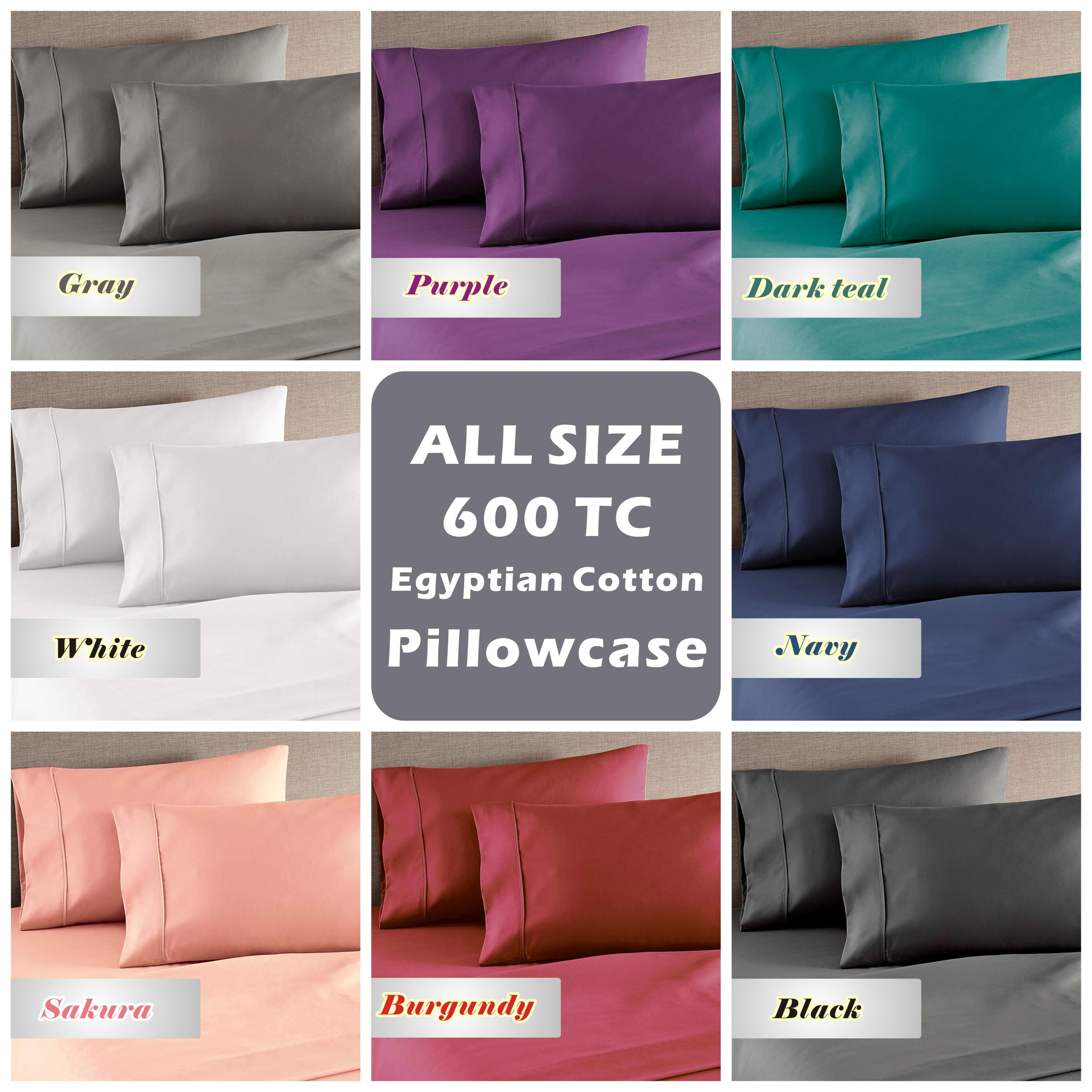 Details About Genuine 600tc Combed Natura Egyptian Cotton Pillow Cases For Bed Sheet 1 Piece
