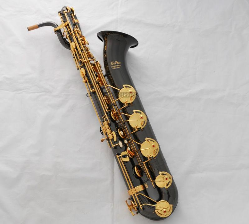 Details about Professional Taishan Baritone saxophone Black Nickel Gold Eb  Sax Low A With Case