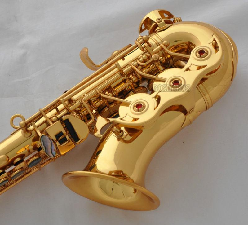 Details about Professional Gold TaiShan Curved Soprano Sax Bb Saxophone  Abalone Key With Case