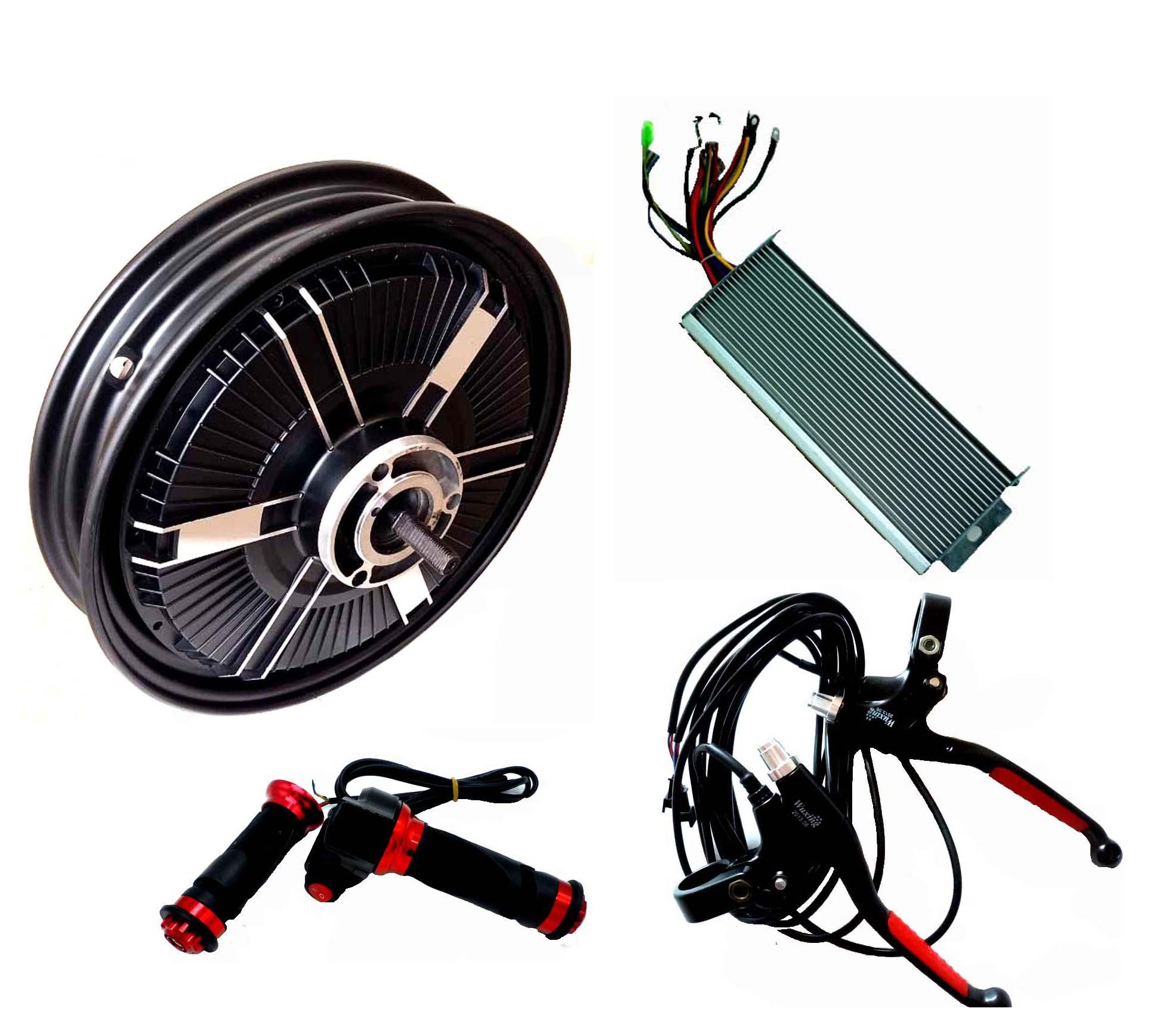Details About 16 3 Wheel 48v 96v1500w Electric Bicycle E Bike Motor Kit Sine Wave Controller
