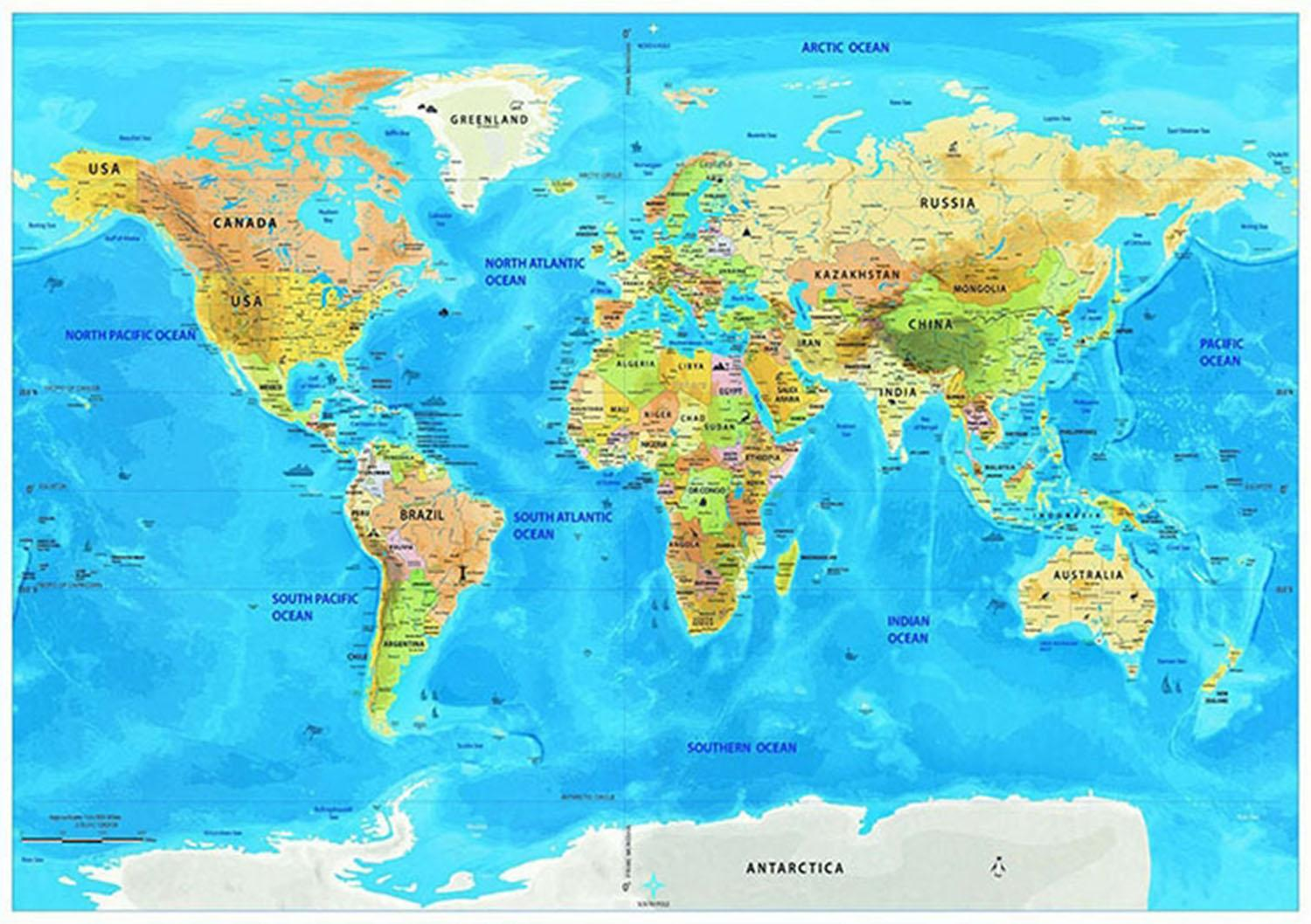 Details about Large Scratch Off World Map Poster with  Mountains,Rivers,Cities,Flags