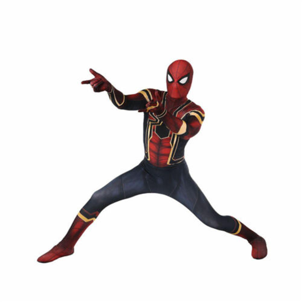 Adult Kids Spider-man Cosplay Costume Spider Superhero Tights Suit Jumpsuit
