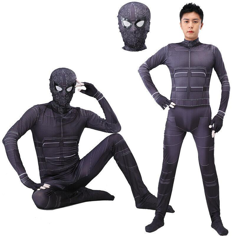 Far From Home Stealth Suit Spiderman Cosplay Zentai Bodsuit New Spider-Man