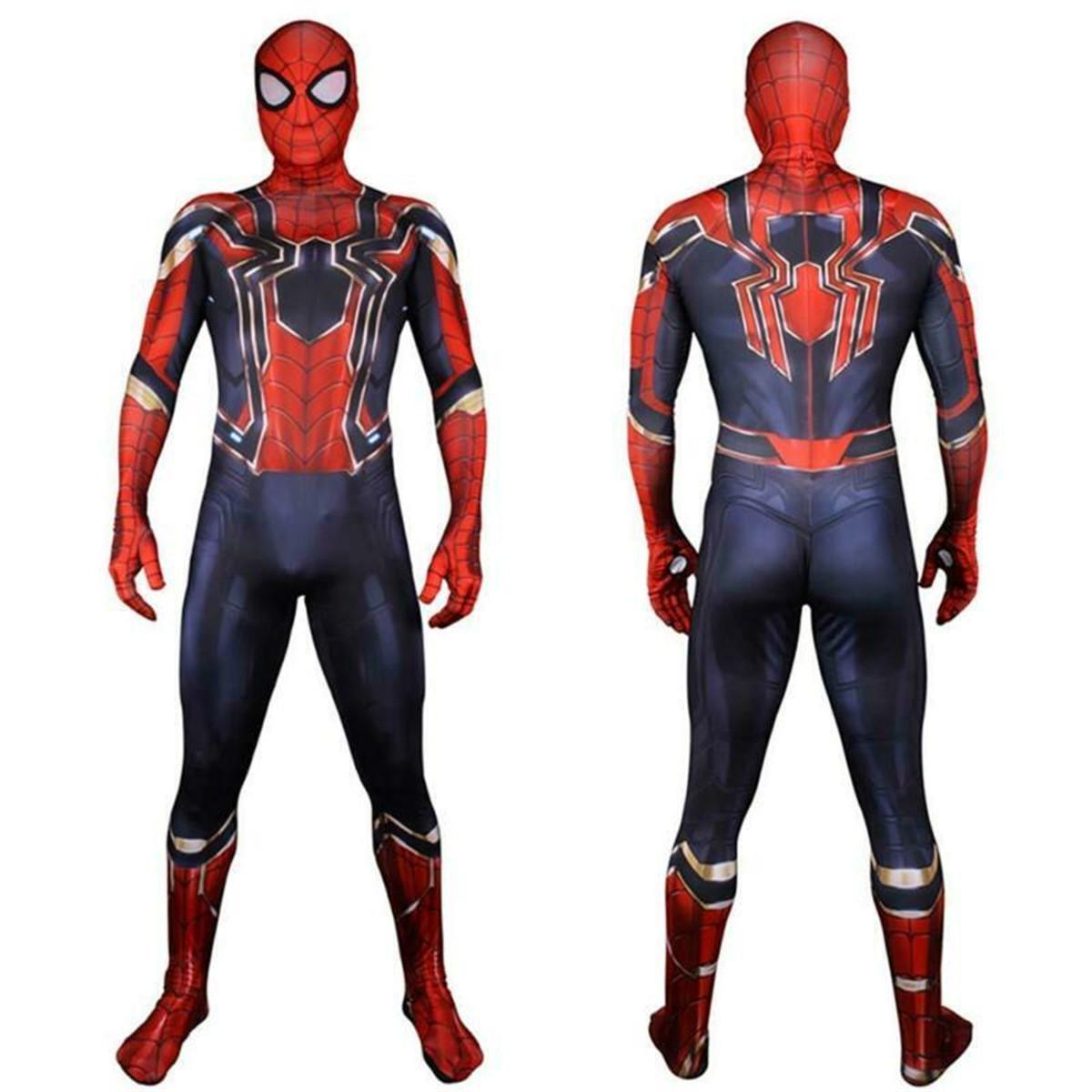 Adult Spider-Man Far From Home Peter Parker 3D Zentai Cosplay Costume Suit