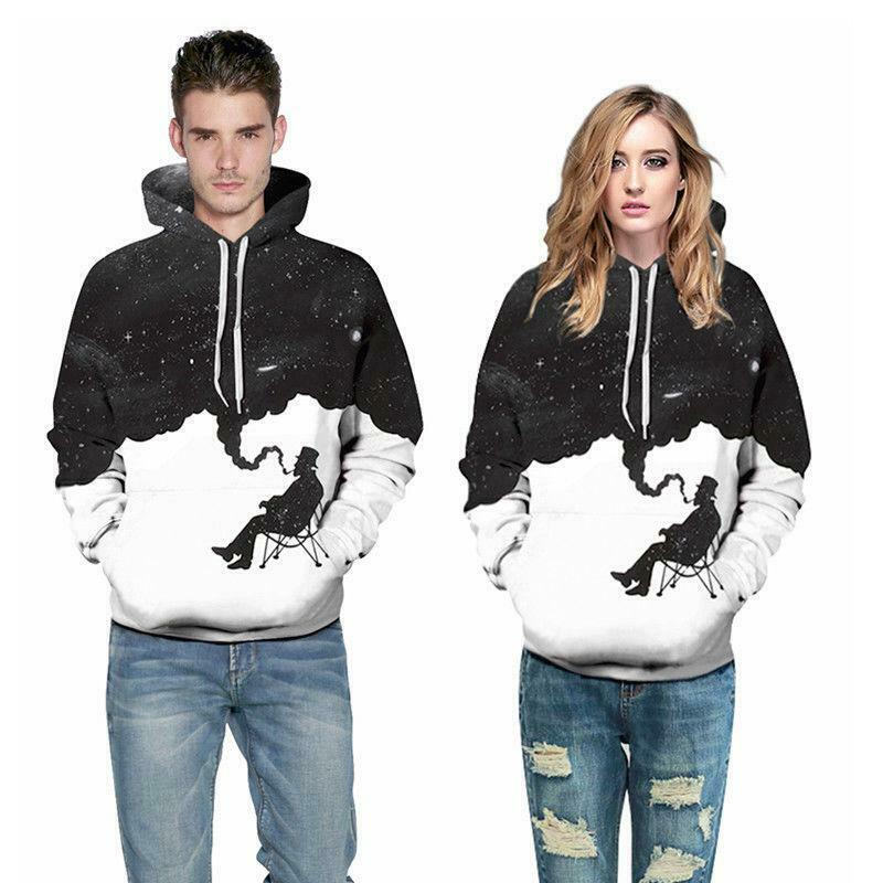 Galaxy 3D Print Womens Mens Hoodie Sweatshirt Casual Pullover Jumper Jacket Coat
