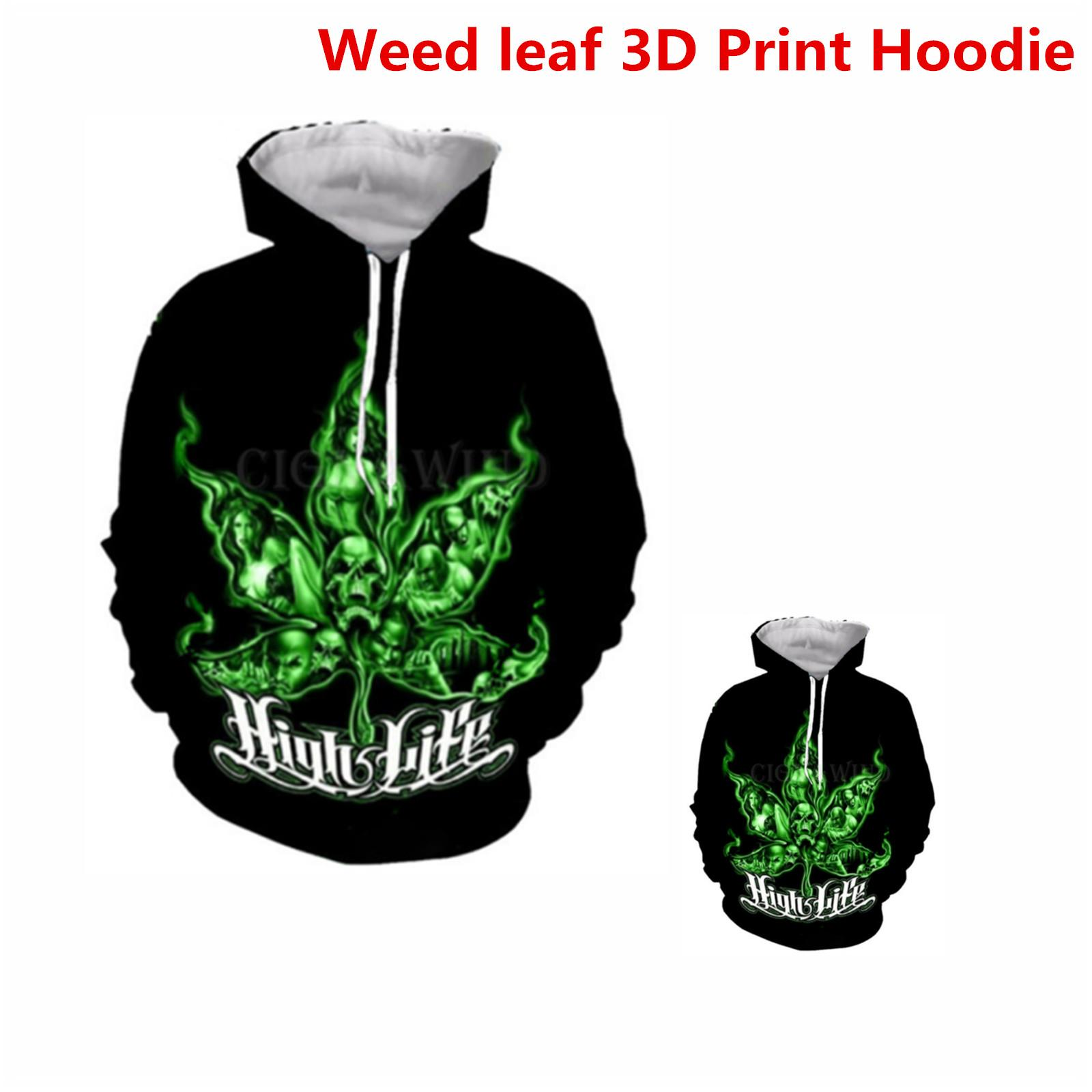 New Fashion Women//Men Weed Camo 3D Print  Pullover Hoodie Sweatshirt S50