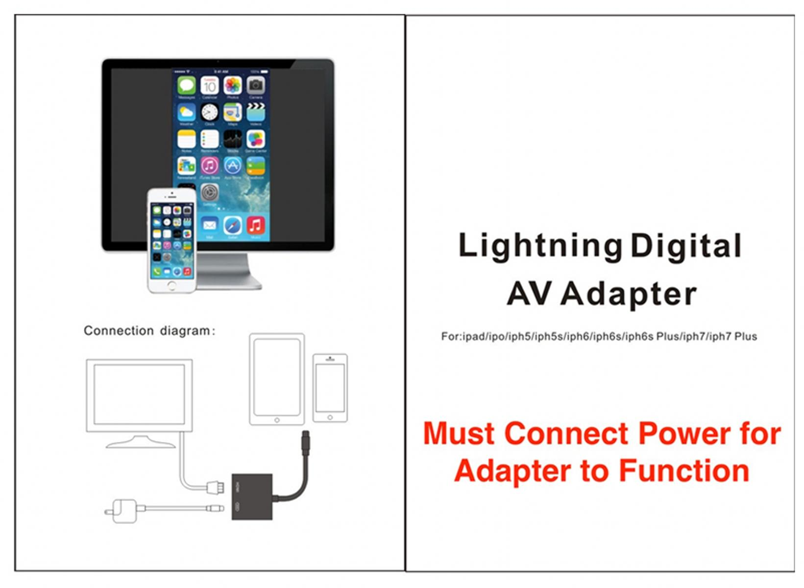 Digital Av Adapter 8 Pin Lightning To Hdmi Port For Iphone X 7 6 Cable Wiring Diagram Product Features