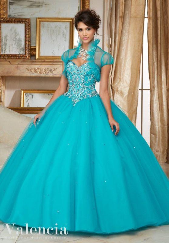 Jeweled Quinceanera Dresses Ball Gown Party Prom Gown Princess Sweet ...