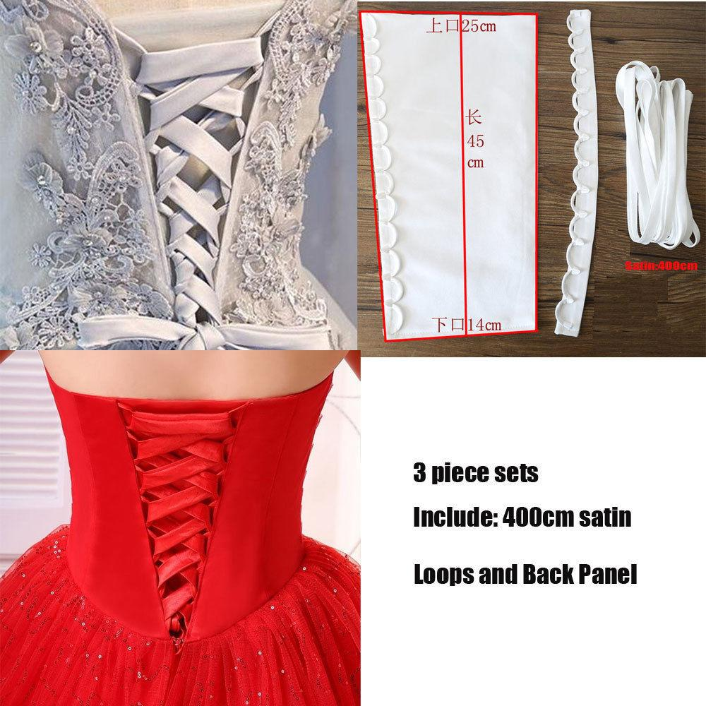 details about satin corset kit zipper replacement wedding gown dress all  colors back lace up