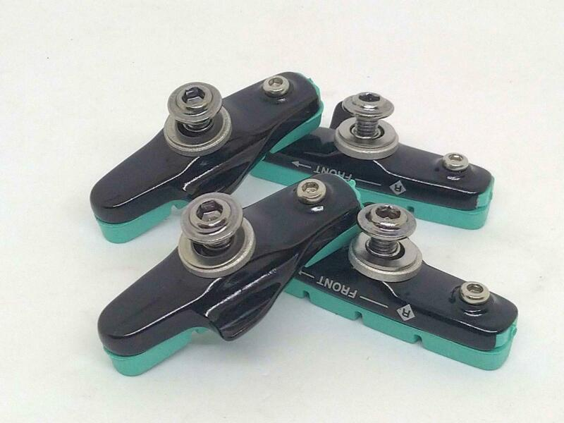 Celeste Brake Pads With Shoes for Road Alloy Rims 2 Pairs Best fit Bianchi Bike
